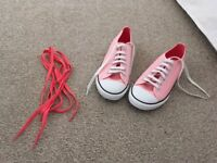 Pink converse size 5 adult pink