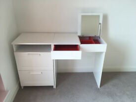 IKEA Brimnes Dressing table and chest of 2 draws with built in mirror