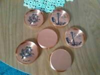 Coasters copper wape