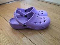 Crocs purple shoes
