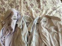 "Four striped TM Lewin shirts 17"" collar"