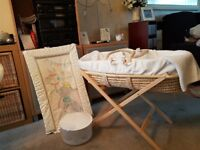 Moses basket c/w stand