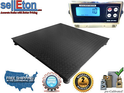 48 X 48 4 X 4 Floor Scale Pallet Size With Rs-232 Port 10000 X 1 Lb