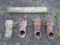 Cast Iron / steel / alloy guttering downpipe shoes / connectors etc
