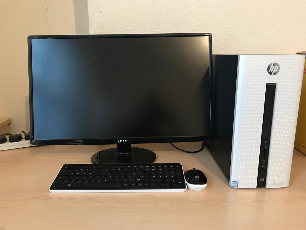 "HP Pavilion+ 27"" acer hd 1080 LCD + wireless HP Printer"