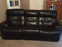 3 & 2 seater large leather couches