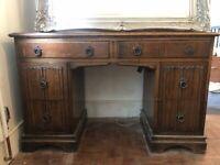 Vintage wood dressing table or desk