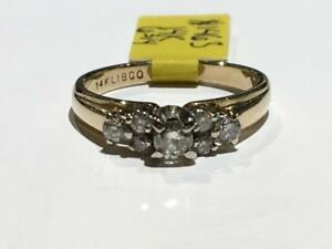 #1463 14K YELLOW GOLD LADIES ENGAGEMENT RING *SIZE 6 3/4* JUST BACK FROM APPRAISAL AT $2450.00 SELLING FOR ONLY $850.00