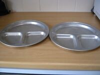 Two Light Weight Aluminium camping plates.