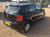 Volkswagen polo 1.2 s 2011 New shape 5 dr black Hpi clear low miles cheap part ex available