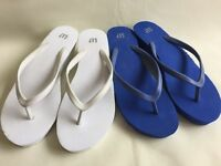 Brand new white and blue GAP heeled flip flops