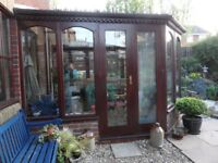Hardwood Conservatory --Already Dismantled & Ready to Collect