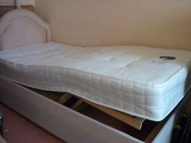 Single orthopaedic bed with firm mattress. Very good condition.