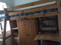 Bung bed with wardrobe & pc unit for sale