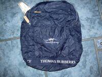 navy burberry rucksack