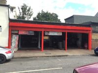 CAR AND VAN MECHANICAL GARAGE WORKSHOP AVAILABLE TO RENT ON MAIN HIGH STREET