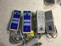 Job Lot 2 x Arjo Malibu Mk 2 Bath 4 Function Handset/2 x Mk 1 Malibu Handsets