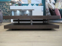Brand New Ex display Solid handcrafted Dark Elm coffee table with beautiful grain detail. Was £299