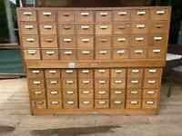 2 sets of catalogue cabinets