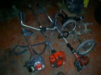 PETROL STRIMMERS x3 MOUNTFIELD MB36D AND LAWNFLITE S2690 KAWASAKI