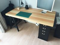 Desk with Chest of Drawers (Ikea)