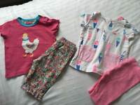 TWO Joules Summer Outfits 9-12 Months Baby Girl