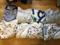 Baby boy sleepsuits bundle