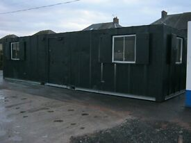 32ft x 10ft Anti Vandal Portable Site Cabin + FULLY INSULATED OFFICE IN STOCK + shipping container