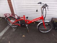 HONDA ELECTRIC BIKE FOR SPARES OR REPAIR NEEDS SADDLE AND BATTERY EASY PICK UP COST £600