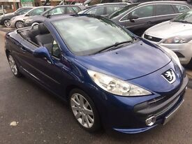 2008/58 PEUGEOT 207 CC 1.6 HDI GT,MET BLUE,FULL BLACK LEATHER,STUNNING LOOKS+ECONOMY,DRIVES WELL