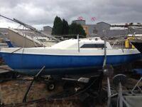Hunter Europa 19 Sailing Yacht/Boat/Cruiser on Trailer