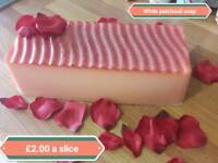 Soap loaf slices beautiful handmade soap wrapped