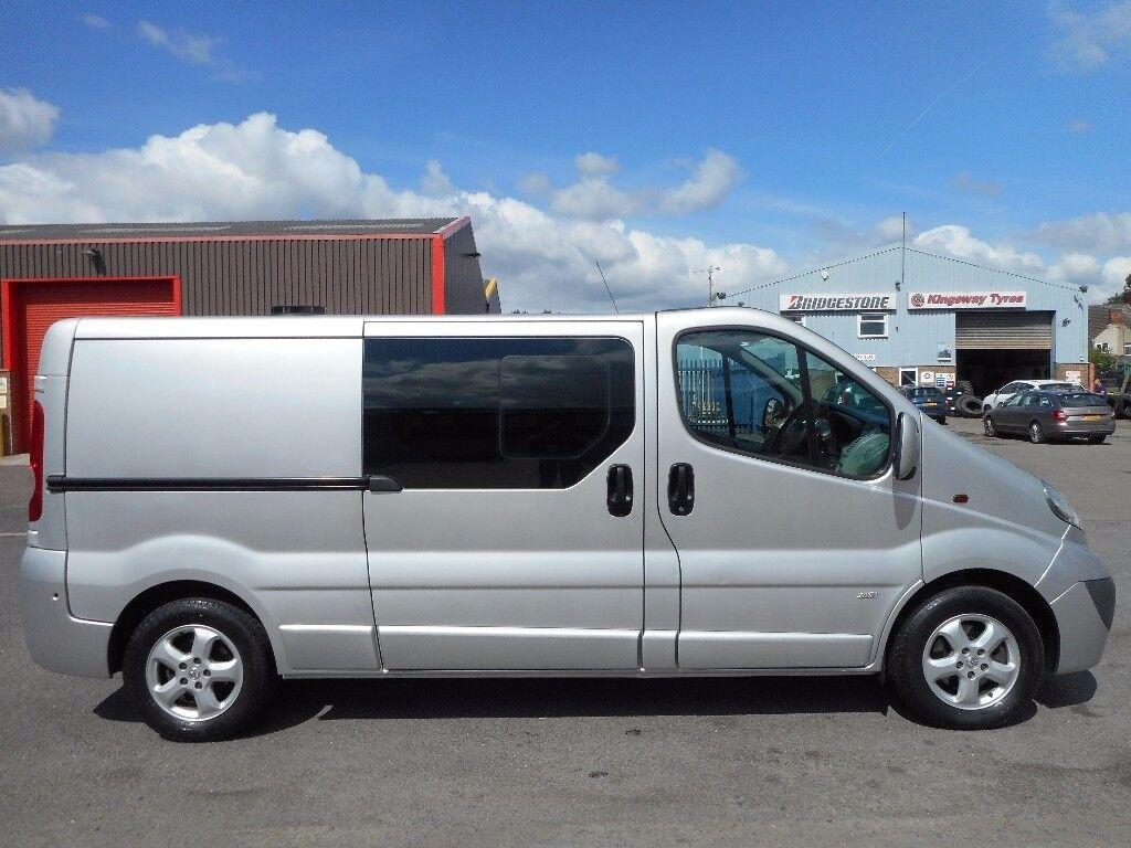 FINANCE ME!!NO VAT!!Stunning Vauxhall Vivaro sportive 6 seat crew van with only 66k and full history