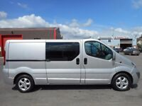 FINANCE ME!!NO VAT!!Stunning Vauxhall Vivaro sportive 6 seat crew van with only 66k and full history