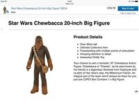 "Star Wars 20"" Chewbacca action figure"