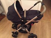 Mothercare Orb Pram Navy Blue