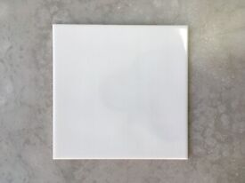 NEW White 20cm x 20cm Ceramic Tiles