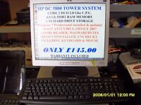 HEWLETT PACKARD COMPUTER COMPLETE SYSTEM INCLUDING MONITOR £145