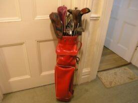 Golf Bag And Clubs 5 Woods 10Irons Putter Balls Weymouth