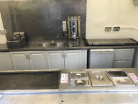 Large 12 x 6 ft twin wheel catering trailer AJC Gas and Electric burger van - May Px or Swap