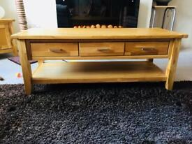 Nearly new oak coffee table