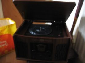 modern wood cabinet record player