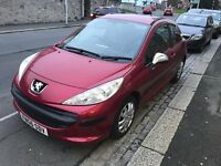 PEUGEOT 207 1.4 HDI, ROAD TAX ONLY £30 YEAR, BRAND NEW MOT NO ADVISORIES, FENDER GUITAR PX POSIBLE