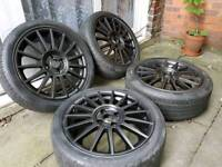 "17"" Alloy wheels with Tyres Ford Escort Fiesta Focus Puma Peugeot Citroen Saxo"
