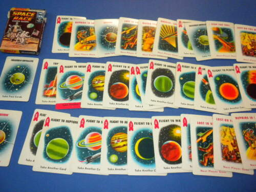 34 SPACE RACE PLAYING CARD GAME ED-U-CARDS 1969