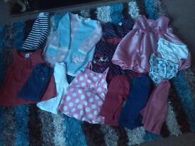 Girls cloths bundle 9-12 months, 13 items