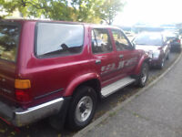 Toyota Hilux Surf ii 2.4 Litre TD, year 1993 in candy apple red (Automatic) drives beautifuly