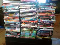 90 dvds+ 2 dvd games