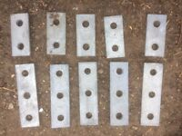 Unistrut channel pre-Galvanised bundle of 10 brackets (see Photograph)