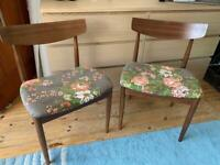 Two G Plan dining chairs